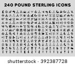 240 british business icons.... | Shutterstock . vector #392387728