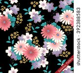 japanese traditional floral... | Shutterstock .eps vector #392388583