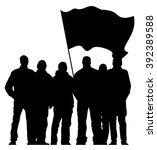 group of people with flag   Shutterstock .eps vector #392389588