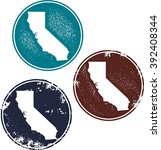 california usa state stamps | Shutterstock .eps vector #392408344