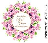 romantic invitation. wedding ... | Shutterstock .eps vector #392413213