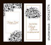 invitation with floral... | Shutterstock .eps vector #392413774