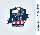 soccer logo  american logo... | Shutterstock .eps vector #392417719