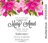 wedding card or invitation with ... | Shutterstock .eps vector #392435263