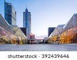 modern business buildings... | Shutterstock . vector #392439646