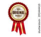 gold genuine product rosette ... | Shutterstock .eps vector #392444410