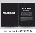 abstract outline flyers... | Shutterstock .eps vector #392455354