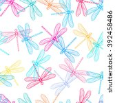 Stock vector dragonfly seamless pattern dragonfly background vector illustration 392458486