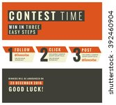 social media contest vector... | Shutterstock .eps vector #392460904
