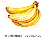 watercolor banana | Shutterstock . vector #392461420