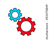 gear icon  | Shutterstock . vector #392470849