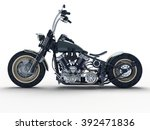 custom isolated motorcycle on a ...   Shutterstock . vector #392471836