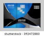 brochure folder leaflet... | Shutterstock .eps vector #392472883