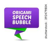 vector paper speech bubble.... | Shutterstock .eps vector #392479804