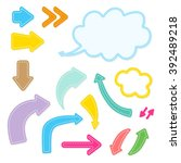 set of cartoon bright arrows | Shutterstock .eps vector #392489218