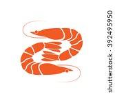 shrimp icon isolated on white... | Shutterstock .eps vector #392495950