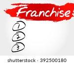 franchise blank list  business... | Shutterstock . vector #392500180