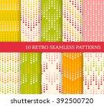 ten color retro seamless... | Shutterstock .eps vector #392500720