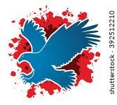 eagle flying attack designed on ... | Shutterstock .eps vector #392512210