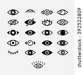 Eyes and eye icon set vector collection. Look and Vision icons.