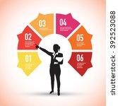 famous landmarks on a pie chart | Shutterstock .eps vector #392523088