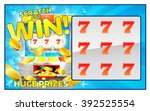 a slot machine lottery instant... | Shutterstock .eps vector #392525554