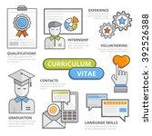 curriculum vitae design concept ...   Shutterstock .eps vector #392526388