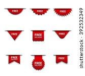 free advertising badges | Shutterstock .eps vector #392532349