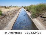 Irrigation Ditch In The Plain...