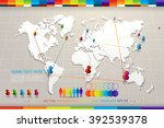 vector map illustration with... | Shutterstock .eps vector #392539378