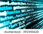 programming code on computer...   Shutterstock . vector #392540620