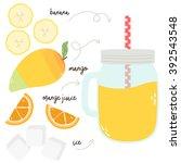 vector illustration of summer... | Shutterstock .eps vector #392543548