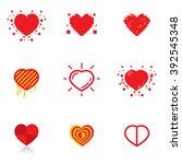 heart icon | Shutterstock .eps vector #392545348