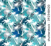 seamless pattern with coconut... | Shutterstock . vector #392548420