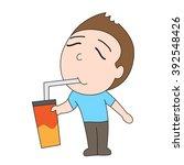 vector cartoon character man...   Shutterstock .eps vector #392548426