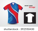 blue and red sport shirt design ... | Shutterstock .eps vector #392550430