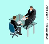 job interview business in... | Shutterstock .eps vector #392551864