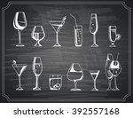 hand drawn sketch set of... | Shutterstock .eps vector #392557168