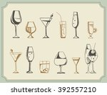 hand drawn sketch set of... | Shutterstock .eps vector #392557210