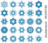 set of 25 a six rays crystal... | Shutterstock .eps vector #39255730