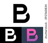 unusual letters p and b logo... | Shutterstock . vector #392560834