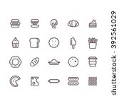 fast food icon set vector. | Shutterstock .eps vector #392561029