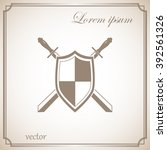 sword and shield icon | Shutterstock .eps vector #392561326