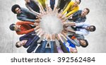 multi ethnic diverse group of... | Shutterstock . vector #392562484