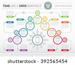 part of the report with logo... | Shutterstock .eps vector #392565454