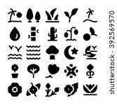 nature vector icon  3 | Shutterstock .eps vector #392569570