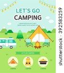 let's go camping | Shutterstock .eps vector #392583259