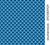 blue fish scale seamless... | Shutterstock .eps vector #392585929