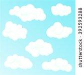 set of vector clouds | Shutterstock .eps vector #392593288