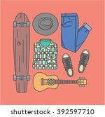 vector illustration icon set of ... | Shutterstock .eps vector #392597710